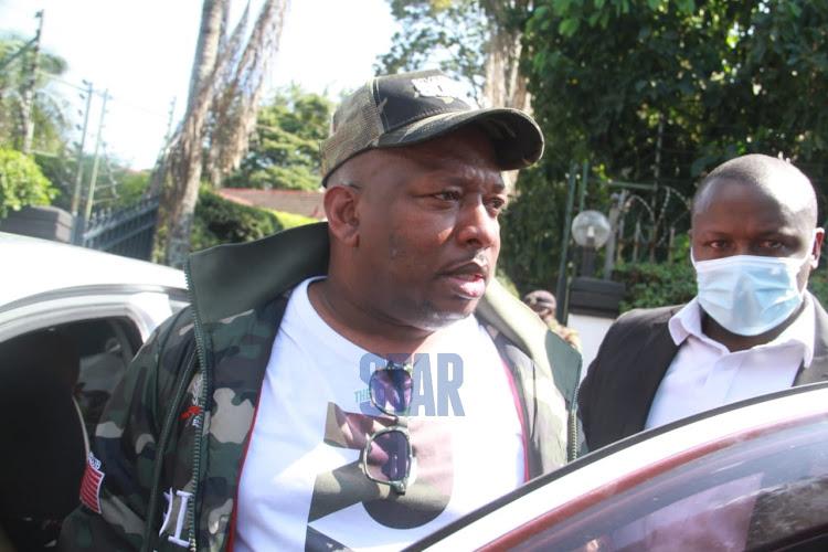 Nairobi Governor Mike Sonko in Riverside on December 1, 2020.