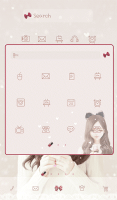 Burgundy DodolLauncherTheme - screenshot