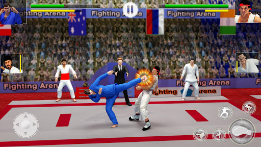 Tag Team Karate Fighting Tiger: World Kung Fu King apklade screenshots 1