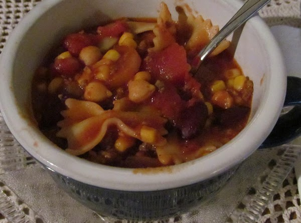 At this point, the goulash should be juicy--almost a soup, so if it starts...