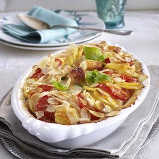 Chicken, Potato and Almond Casserole.