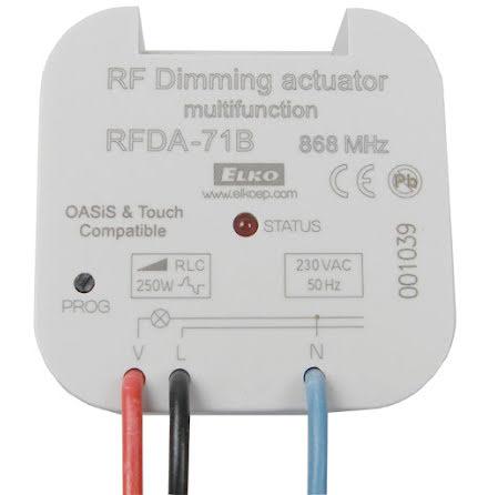 RFDA-71B, dimmer ställdon, 7 funktioner, R-L-C, 250 VA, 230VAC