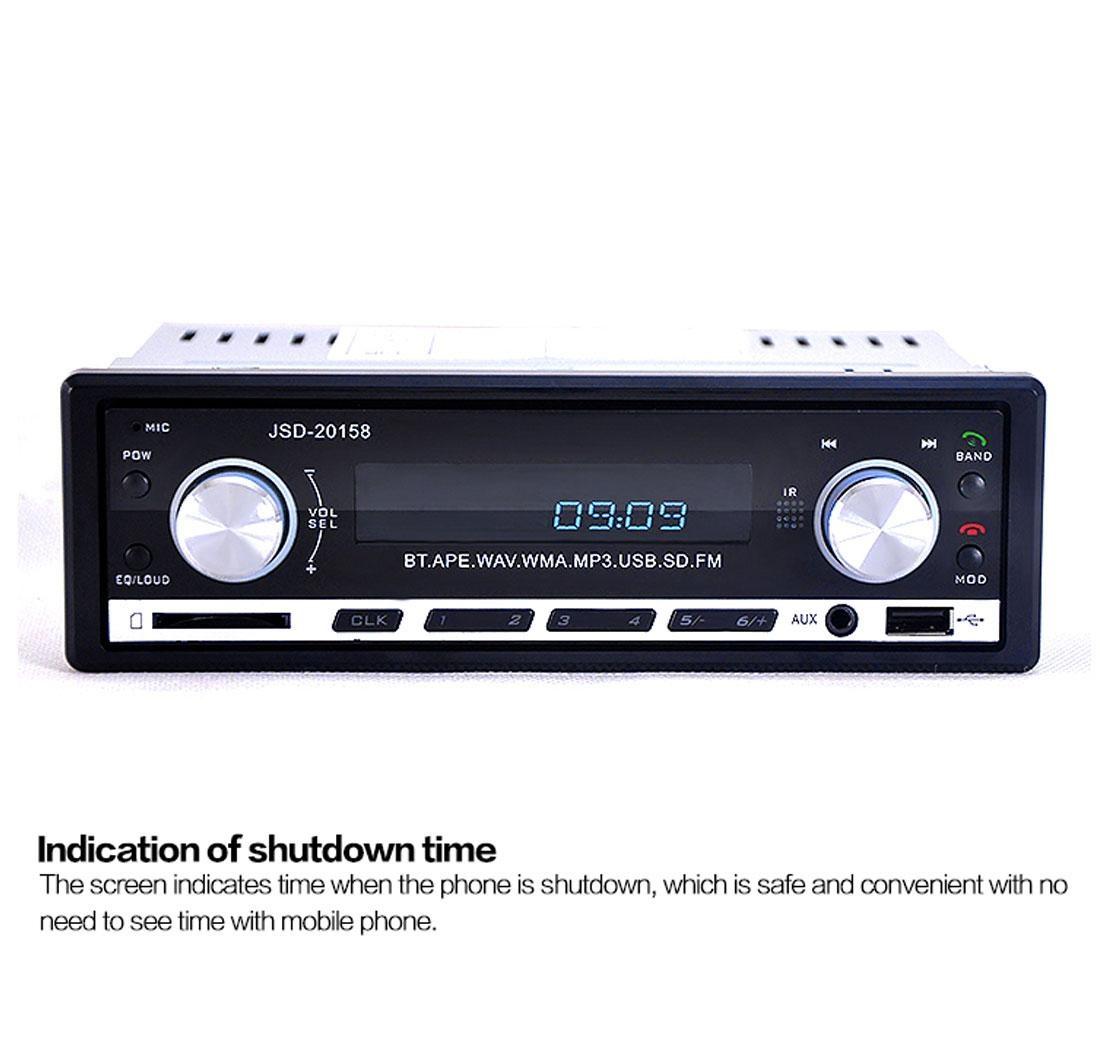 Autoradio Bluetooth Encastré Multifonctions Lecteur MP3 Radio FM entrée Aux Port SD & USB Kit Mains Libres www.avalonkef.com a.jpg