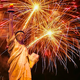 Freedom by Richard Reames - Public Holidays July 4th ( holiday, statue of liberty, statue, photograph, freedom, photographer, 4th of july, photo, photography )