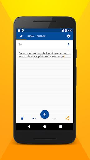 Write SMS by voice screenshots 1