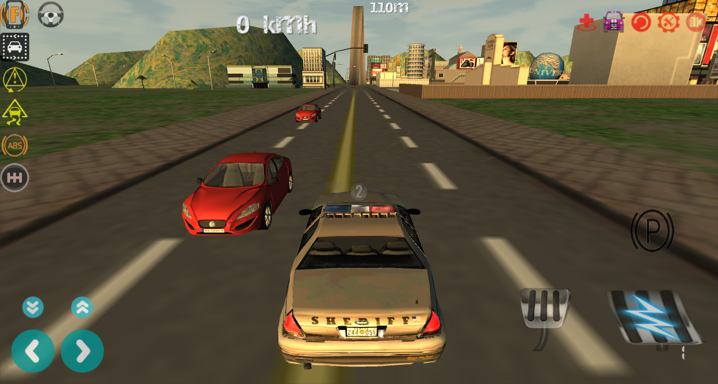Police car driving simulator screenshot
