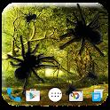 Spider in phone joke icon