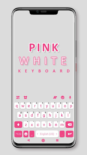 Pink White Chat Keyboard Theme ss1