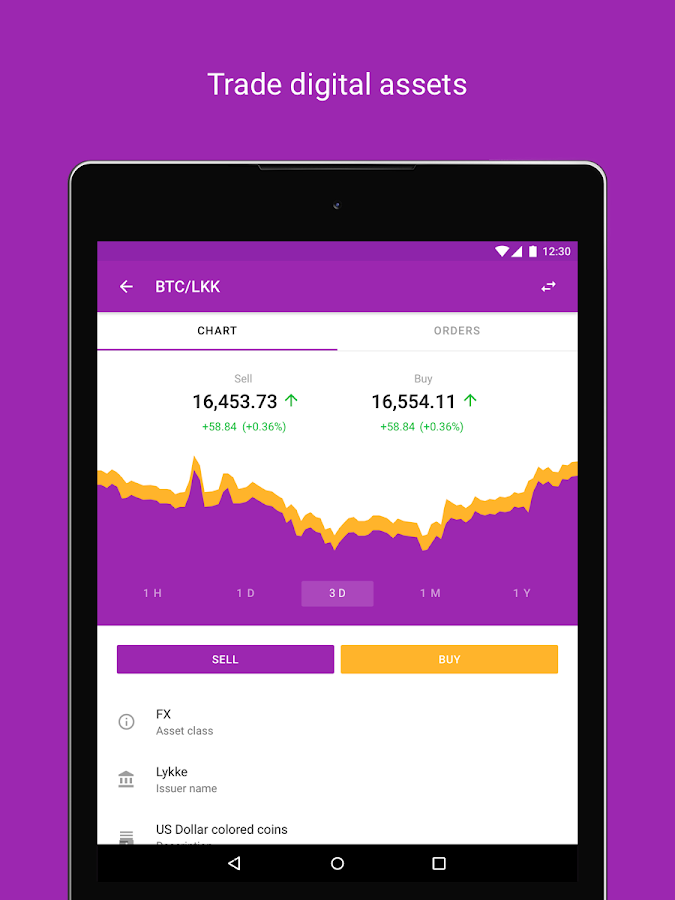 Lykke Wallet- screenshot