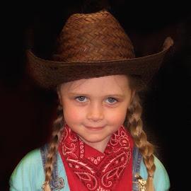 Little Cowgirl by Patricia Phillips - Babies & Children Child Portraits ( children girls cowgirls )