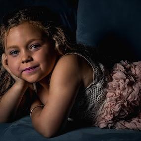 Maci posing by David Spillane - Babies & Children Child Portraits ( child, girl, texture, beautiful, lounge, cute, light )