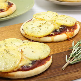 Mini Potato and Rosemary Pizza