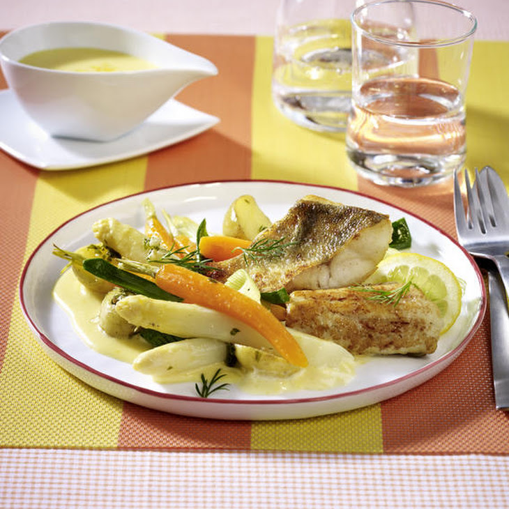 Pan-Fried Cod with Spring Vegetables