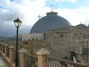 Photo: on top of the Jerusalem Patriarchate