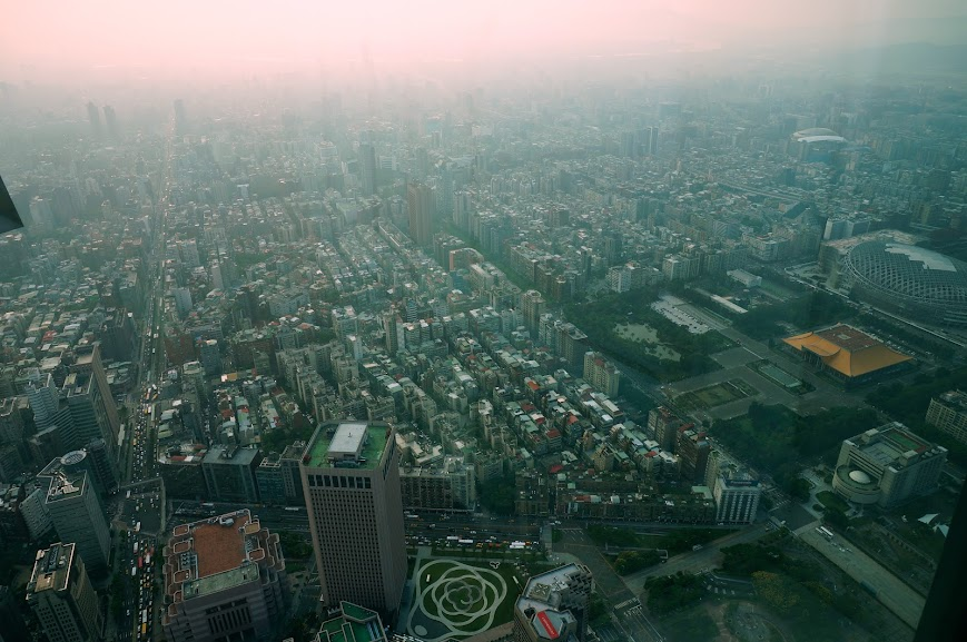 View of Taipei from the Taipei 101