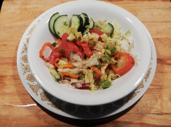 Salad ready to eat. One person amount.