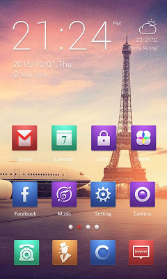 Effiel Theme - ZERO Launcher - screenshot