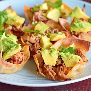 Pulled Pork Wonton Tacos