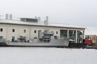 Photo: HMS Bremön var en av fjorton minsvepare som sjösattes under andra världskriget. I sin konstruktion påminner hon om de svenska jagare som också byggdes under denna tid. Hennes uppgift var att rensa svenska vattnen från tyska minor, men också att lägga ut egna.