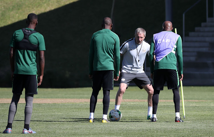 Bafana Bafana head coach Stuart Baxter during a training session in Johannesburg on June 7 2019.