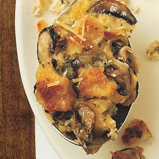 Savory Bread Pudding with Mushrooms and Parmesan Cheese recipe | Epicurious.com.