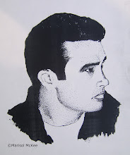 Photo: James Dean. 8 in x 10 in. India ink on 90 lb paper. Created back in 1994. ©Marisol McKee