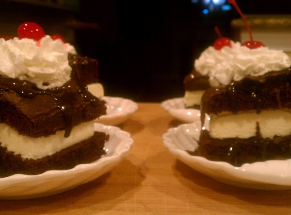 Can't you just taste it....Hot Fudge, Creamy Vanilla ice cream & Devils Food Cake.