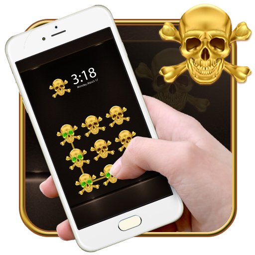Gold Skull CM Security Theme