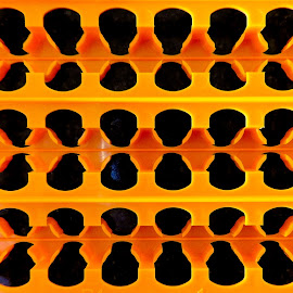 The Art of Industry by Campbell McCubbin - Abstract Patterns ( abstract, orange, pattern, art, black,  )
