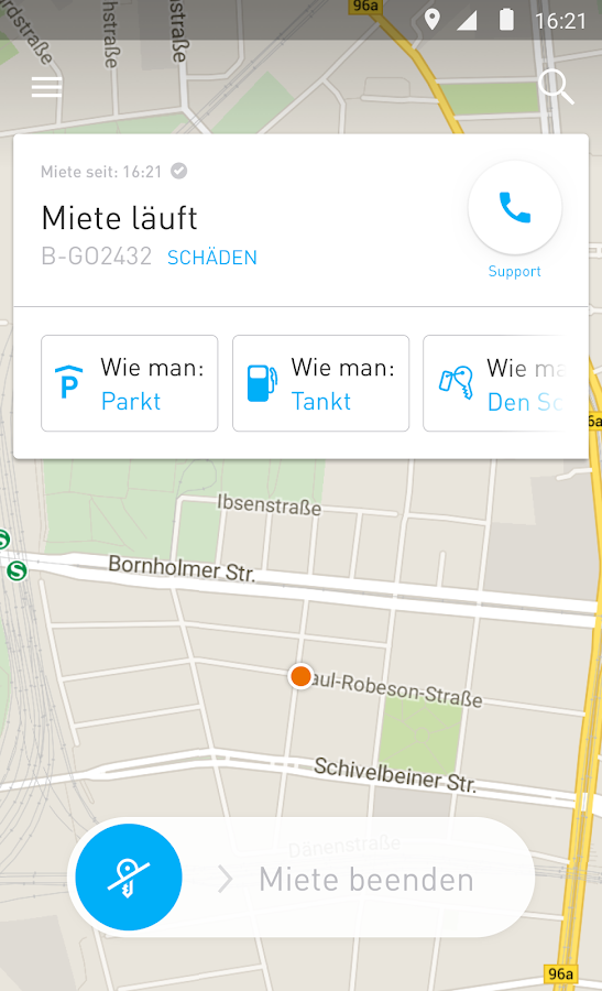 car2go – Screenshot