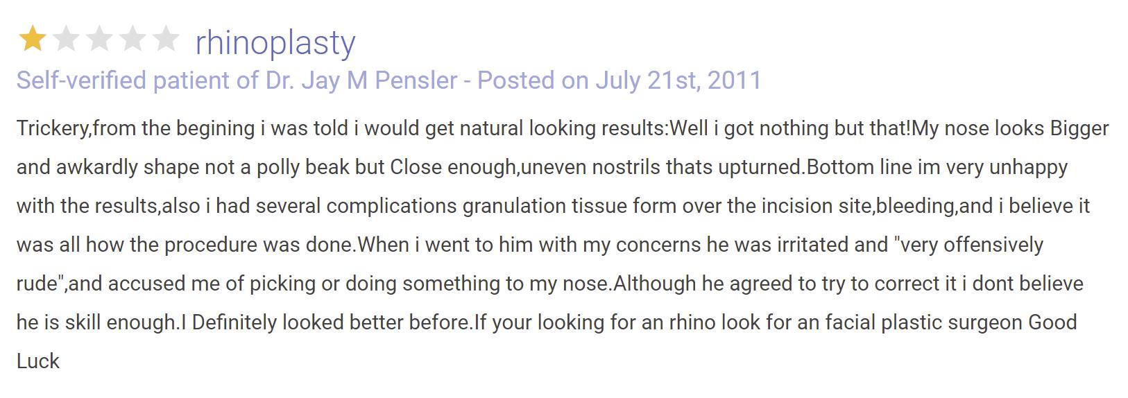 Jay M. Pensler, MD review