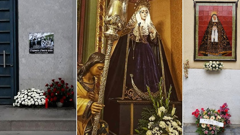 Flores para Caridad, Entierro y Soledad hoy Viernes Santo.