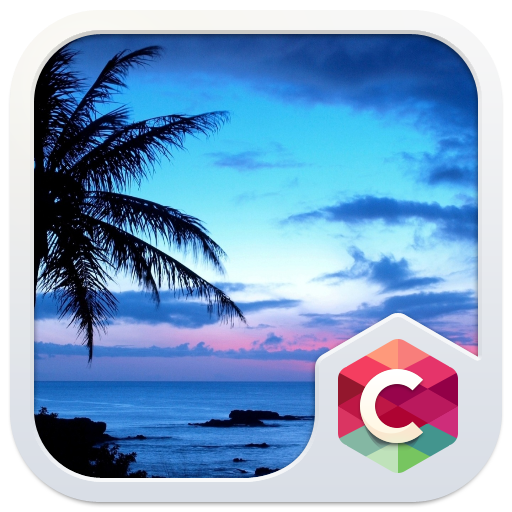 Palm Tree Sunset CLauncher The 個人化 App LOGO-APP開箱王