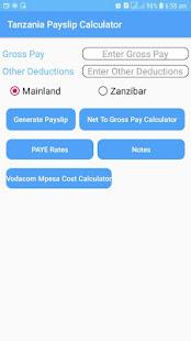 Tanzania Payslip Calculator - náhled