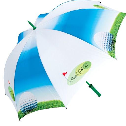 Printed Sports Umbrella - Black Handle