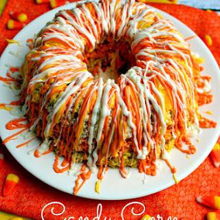 Candy Corn Krispie Cake