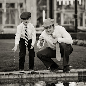 Father and Son by Carrie Plastow - People Family