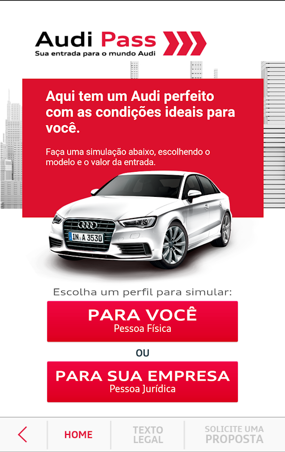 Audi Financial Services- screenshot
