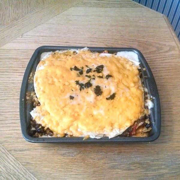 Creamy Triple Cheese Burrito Casserole Recipe