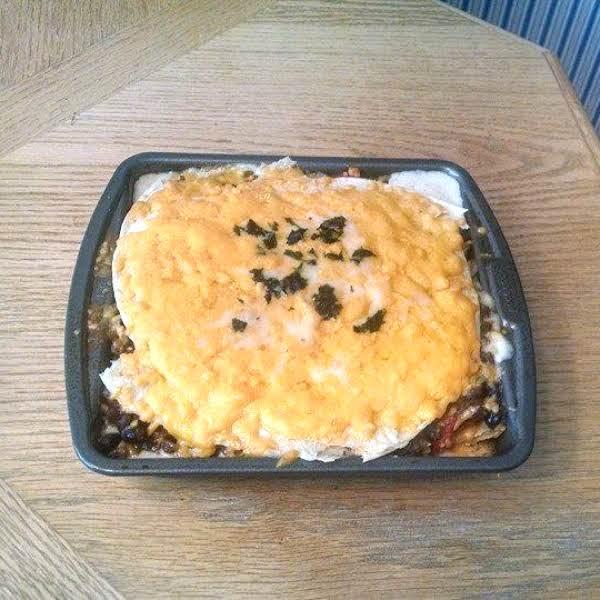 Creamy Triple Cheese Burrito Casserole