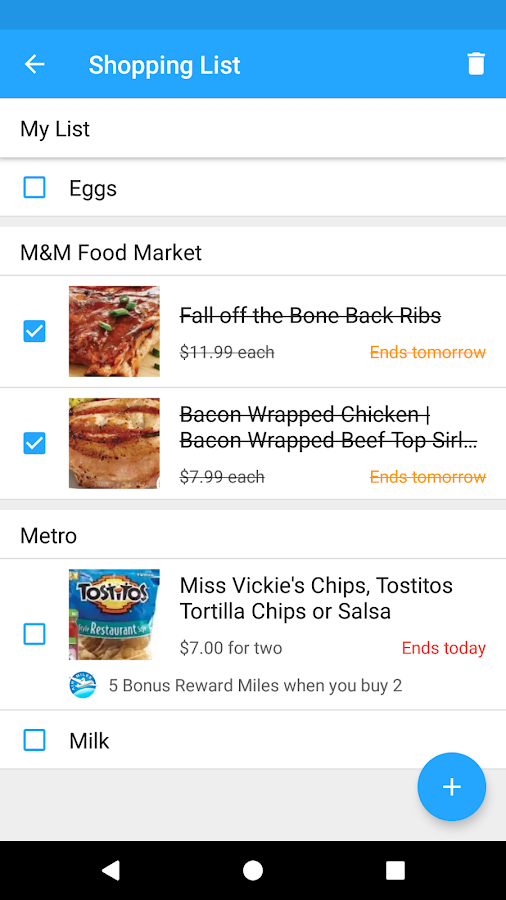 reebee: Shopping List & Flyers- screenshot