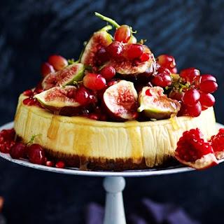 Fruit Cake And Eggnog Cheesecake