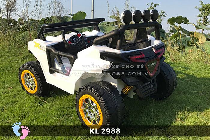 Xe ô tô điện đồ chơi trẻ em KL-2988 ghế da 10