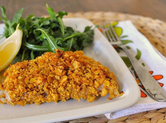 Cornflake Crusted Fish W/dilled Tartar Sauce Recipe