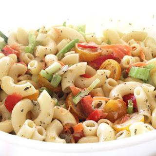 Creamy Italian Macaroni Salad.
