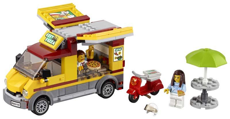 Contenido de Lego® 60150 Camión de Pizza