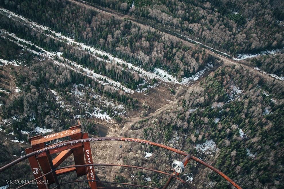 Вид с самого верха(350 метров)