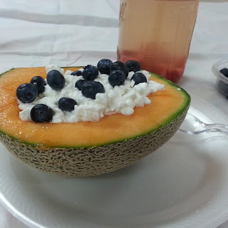 Cantaloupe and Cottage Cheese Salad