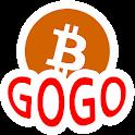Coin GoGo - real time Bitcoin Info Sharing icon