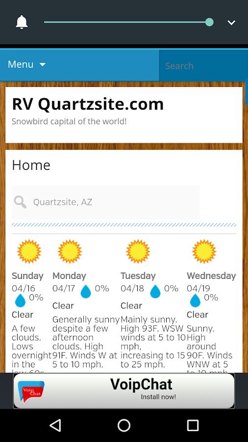 RV Quartzsite- screenshot